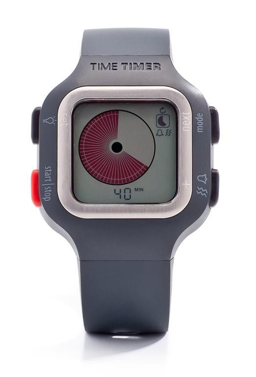 Time Timer horloge Plus (volwassenmodel) - donkergrijs/wit